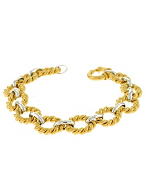 14KT White & Yellow Links 12.5mm