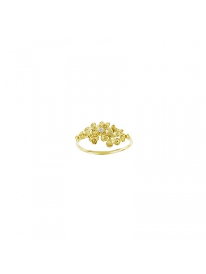 14KT Yellow Ring Flower Top