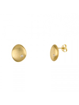 14KT Yellow Earrings W/ Flat Shape