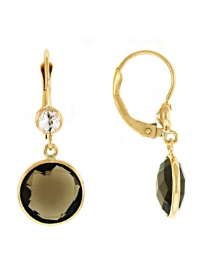 14KTY Earring Smoky Quartz