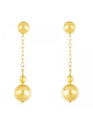 18KT Yellow Balls Dangling Earrings
