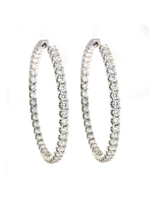 18KT White Earring Hoop