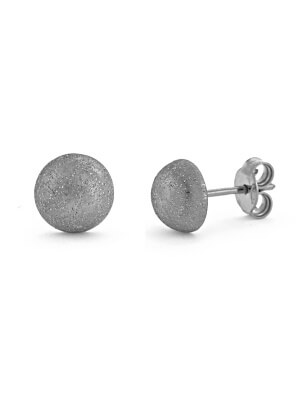 18KT White Earring Button