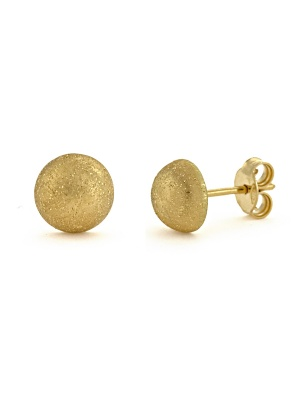 18KT Yellow Earring Button
