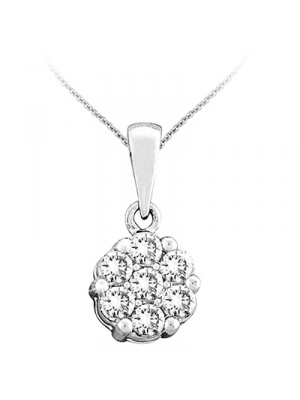 14K 0.25CT FLOWER PENDANT