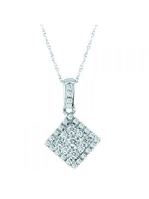 14K 0.35 CT FASHION INV PENDANT