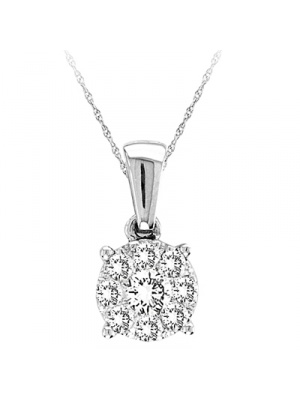 14K 0.27 CT FASHION PENDANT