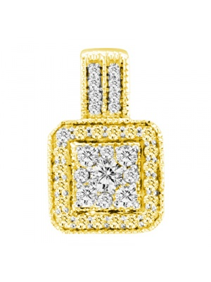 14K 0.50 CT FASHION INV PENDANT