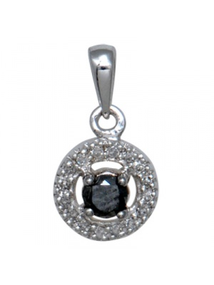 10K 0.21 CT BLACK / WHI FASHION PENDANT
