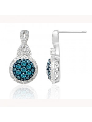 14K 1.03 CT FASHION EARRING