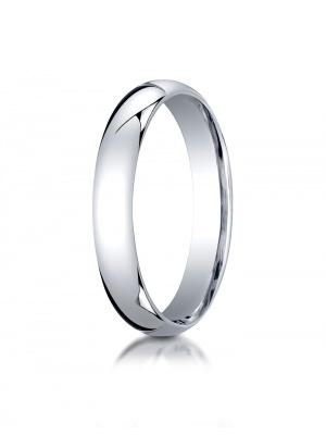 Platinum 4mm Slightly Domed Standard Comfort-Fit Ring