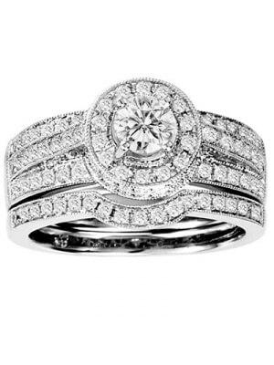 14K White Gold 1 1/4 ct.tw. Diamond Bridal Ring