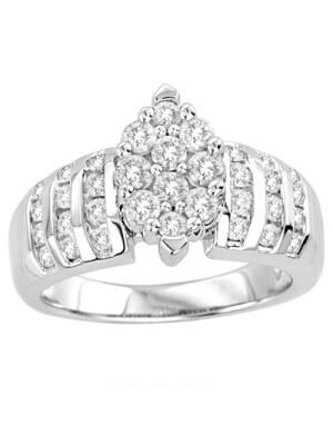 10K White Gold 1 Ct.tw. Diamond Fashion Invisible Ring